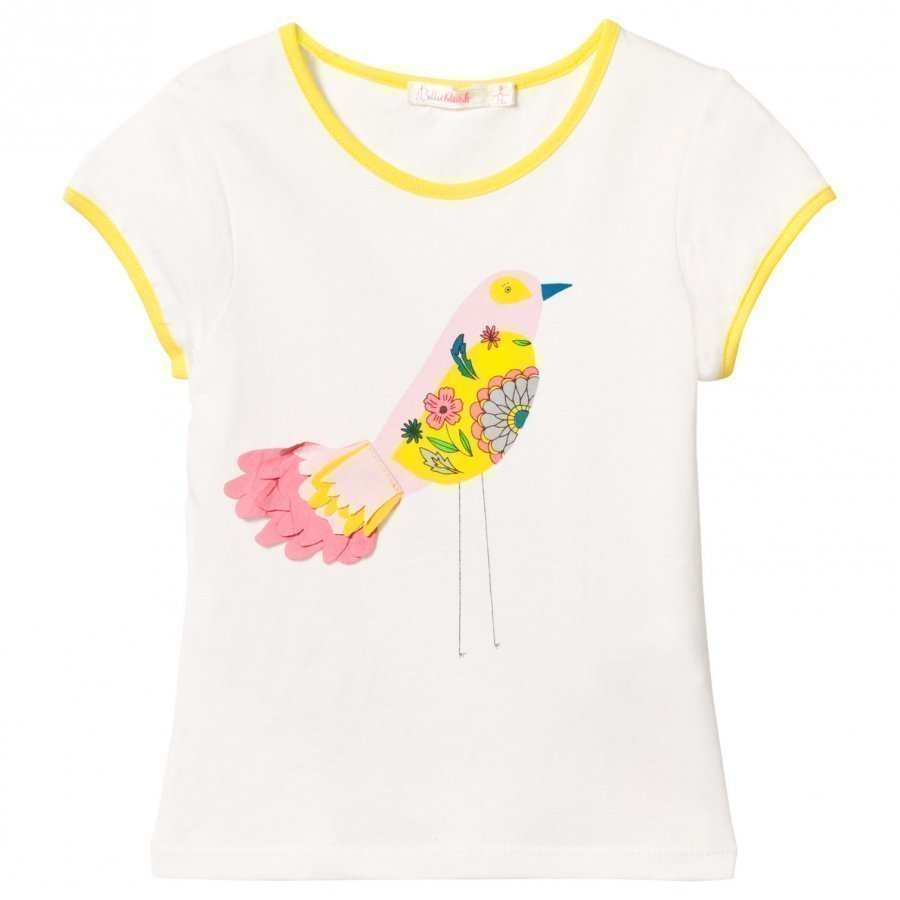 Billieblush White Bird Applique Tee T-Paita