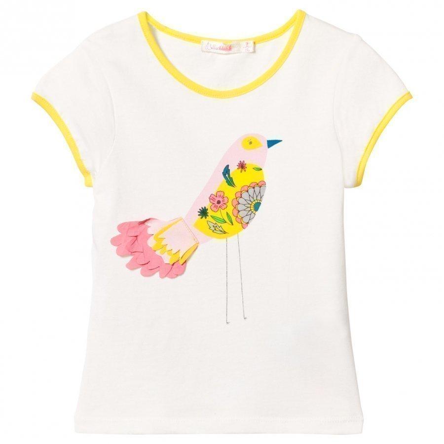 Billieblush White Bird Applique Tee T-Paita