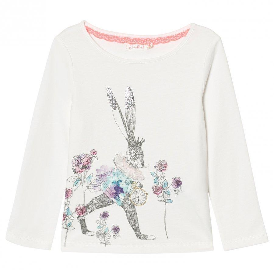 Billieblush White Bunny Floral Print Tee T-Paita