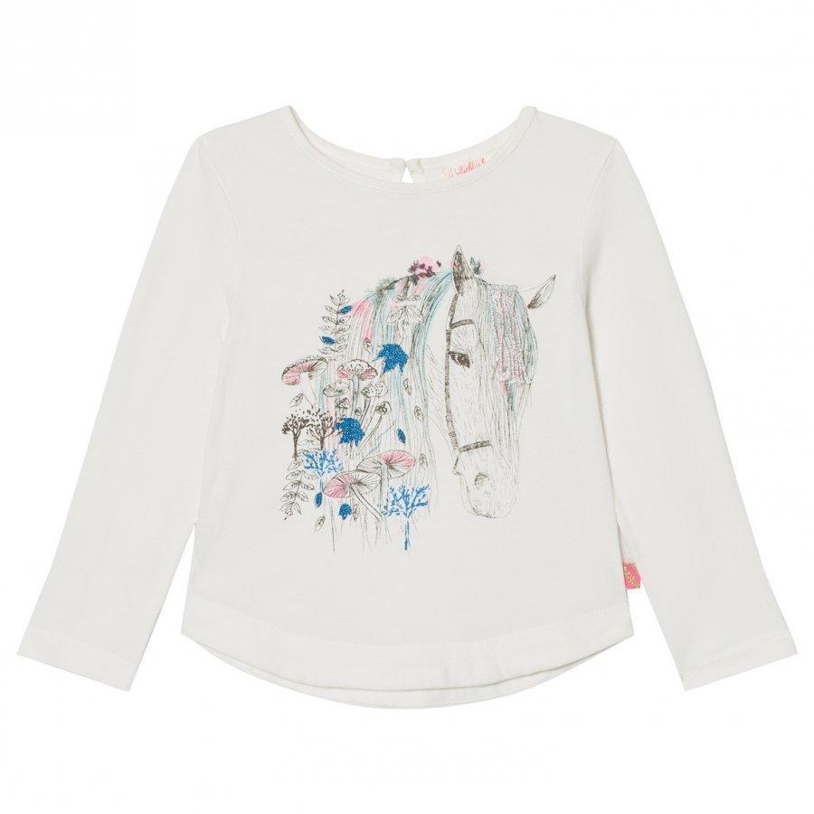 Billieblush White Horse Print Tee T-Paita