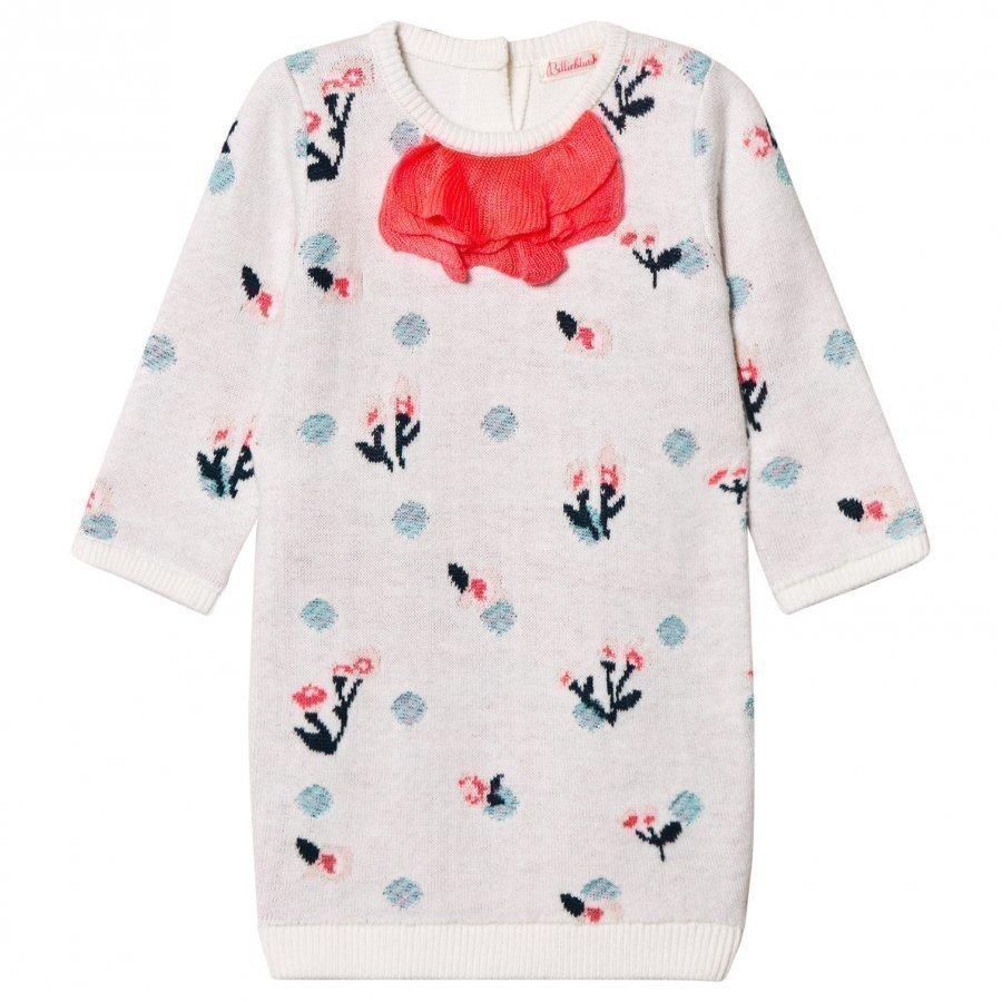 Billieblush White Knit Floral Dress Mekko