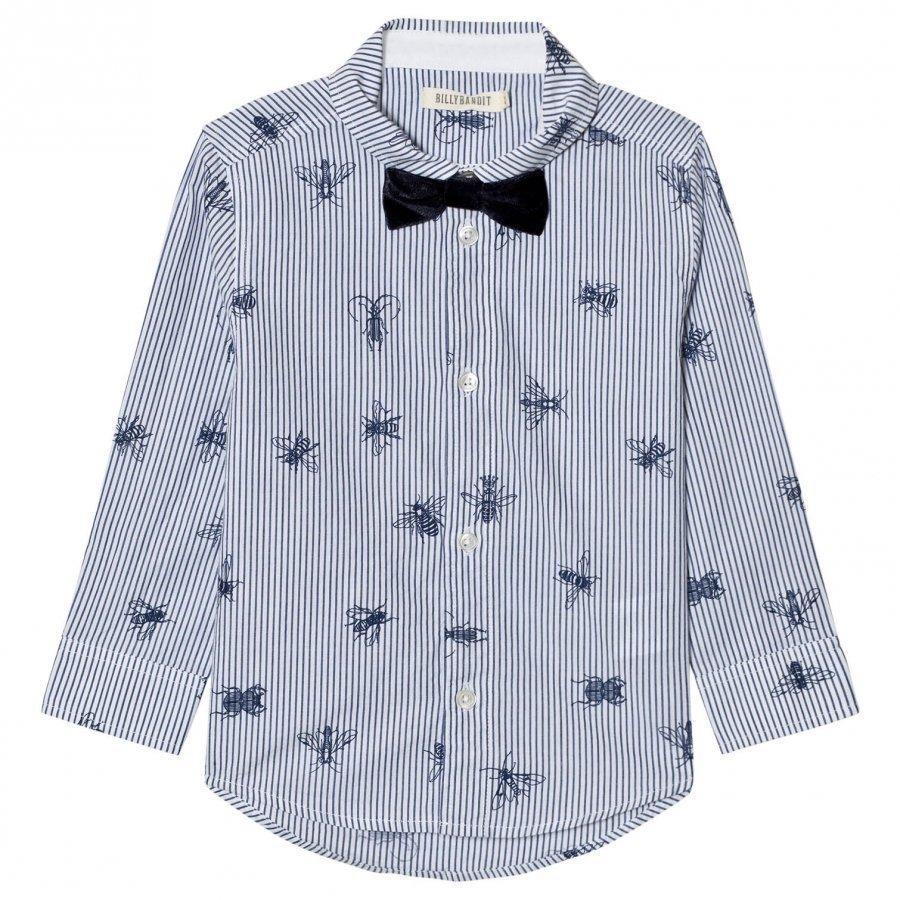 Billybandit Bee Print Bow Tie Shirt Kauluspaita