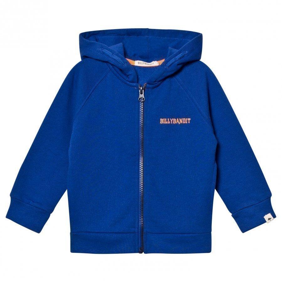 Billybandit Blue Branded Zip Hoodie Huppari