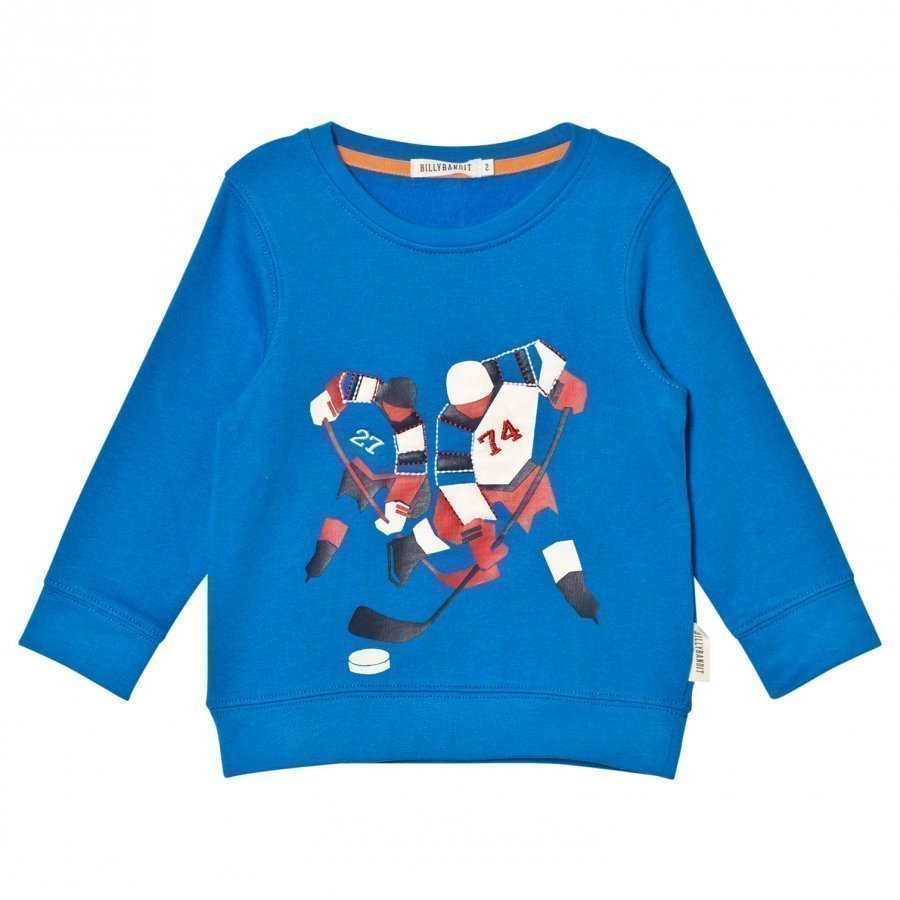 Billybandit Blue Ice Hockey Print Sweater Oloasun Paita