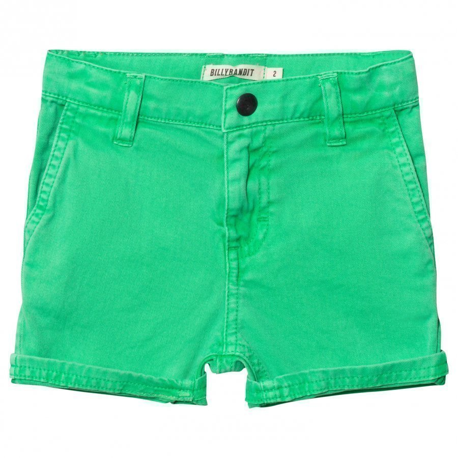 Billybandit Bright Green Chino Shorts Shortsit