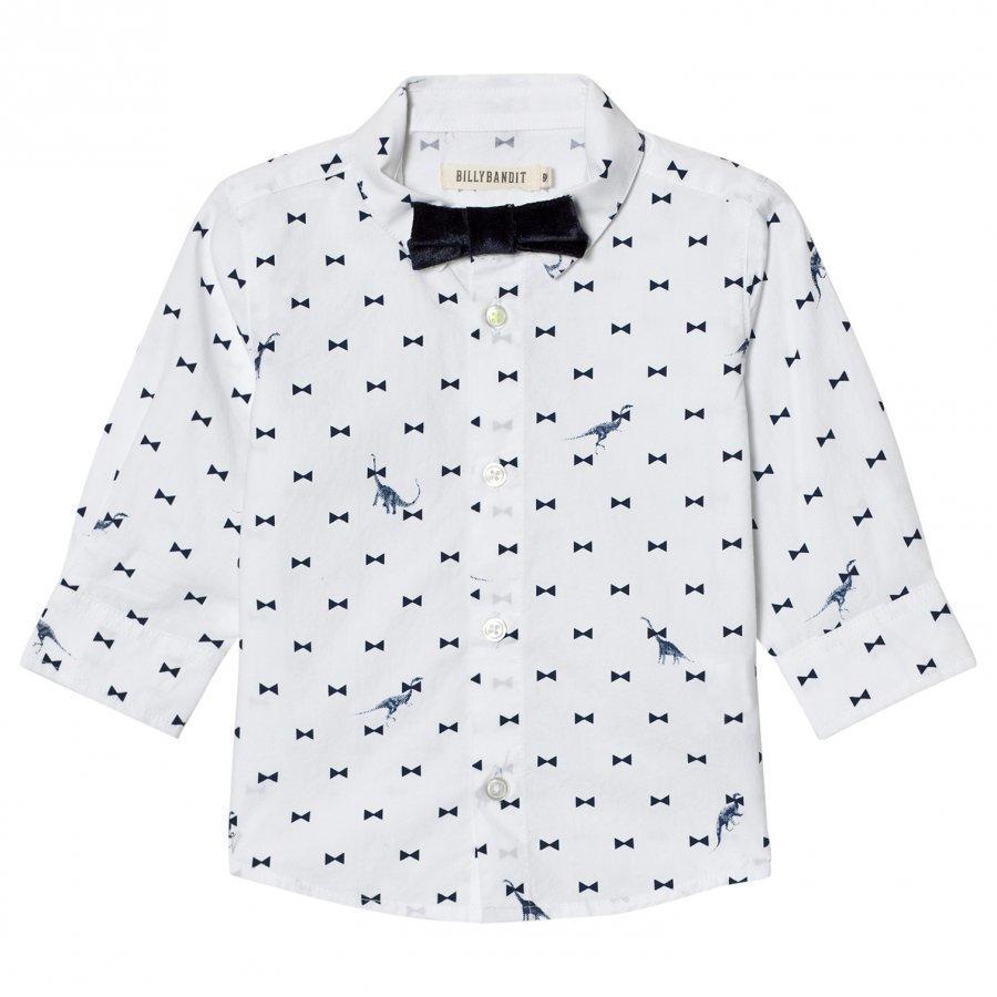 Billybandit Dinosaur Print Bow Tie Shirt Kauluspaita