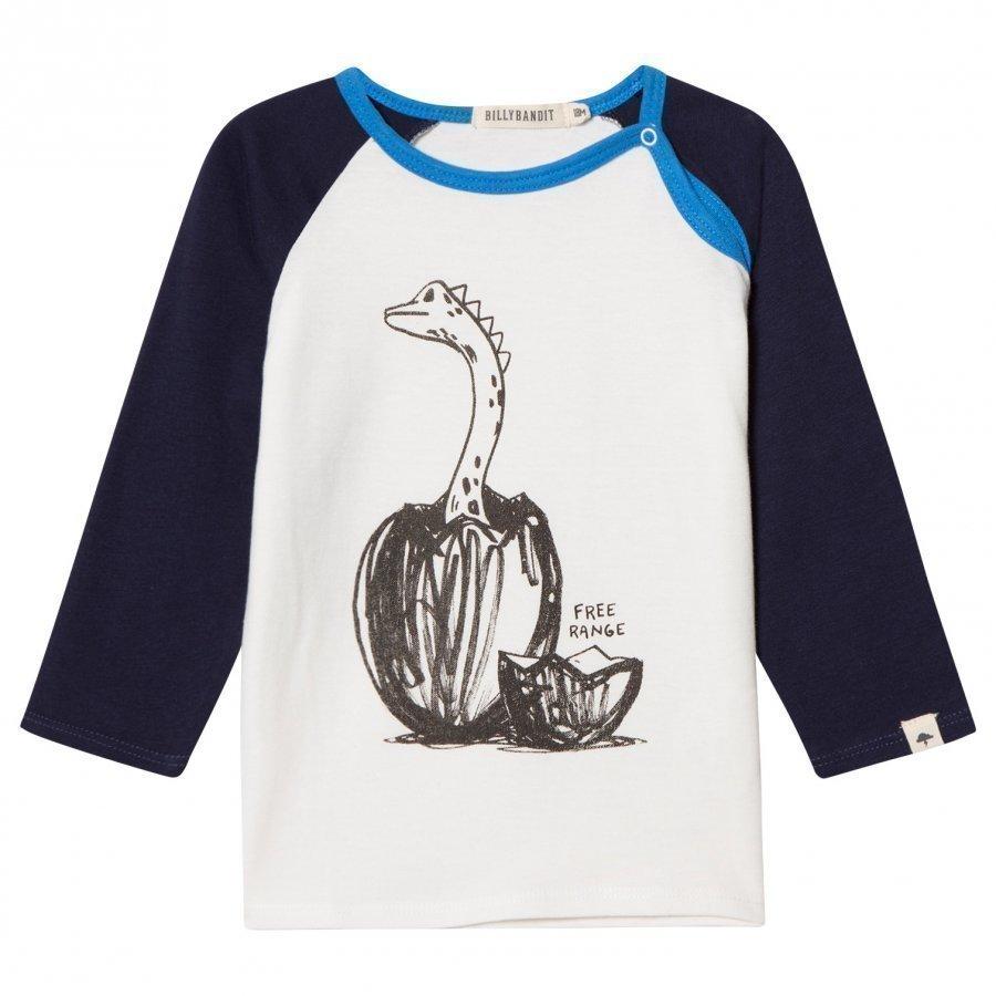 Billybandit Dinosaur Print Raglan Tee T-Paita