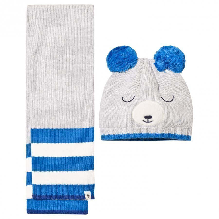Billybandit Grey Bear Hat & Scarf Set Asusetti