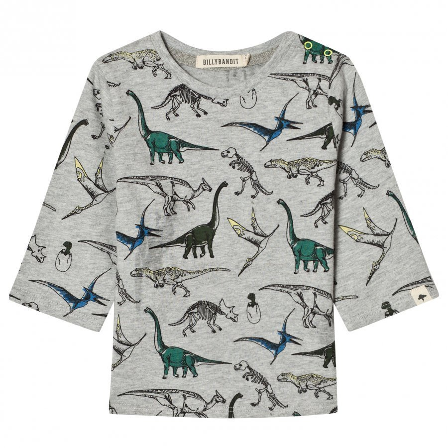 Billybandit Grey Dinosaur Tee T-Paita