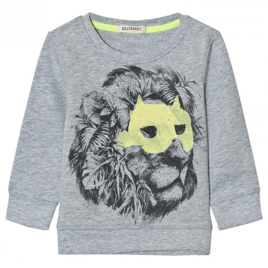 Billybandit Grey Lion Print Sweatshirt Oloasun Paita