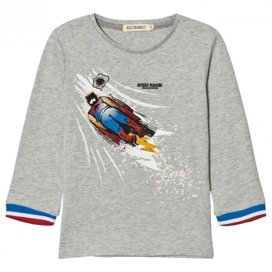 Billybandit Grey Superhero Print Tee T-Paita