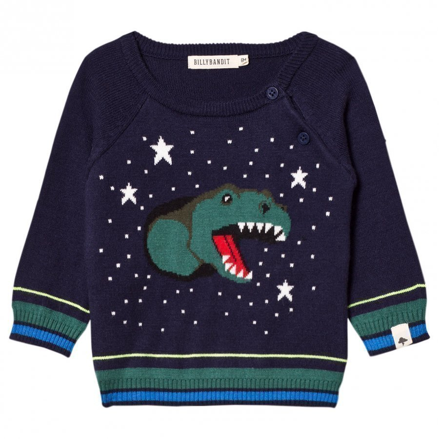 Billybandit Navy Dinosaur Sweater Paita