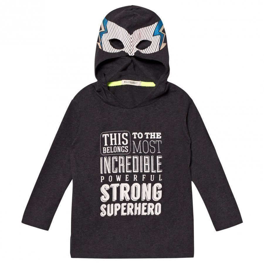 Billybandit Super Hero Hooded Tee Dark Grey Huppari