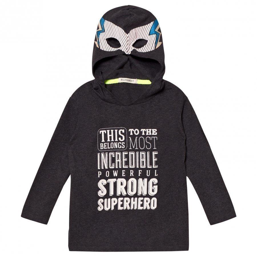 Billybandit Super Hero Hooded Tee Dark Grey Huppari