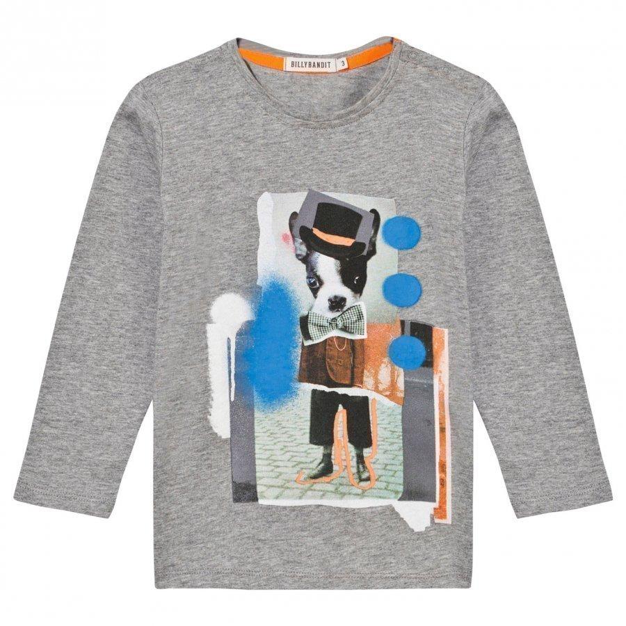 Billybandit T-Shirt Grey Marl Pitkähihainen T-Paita