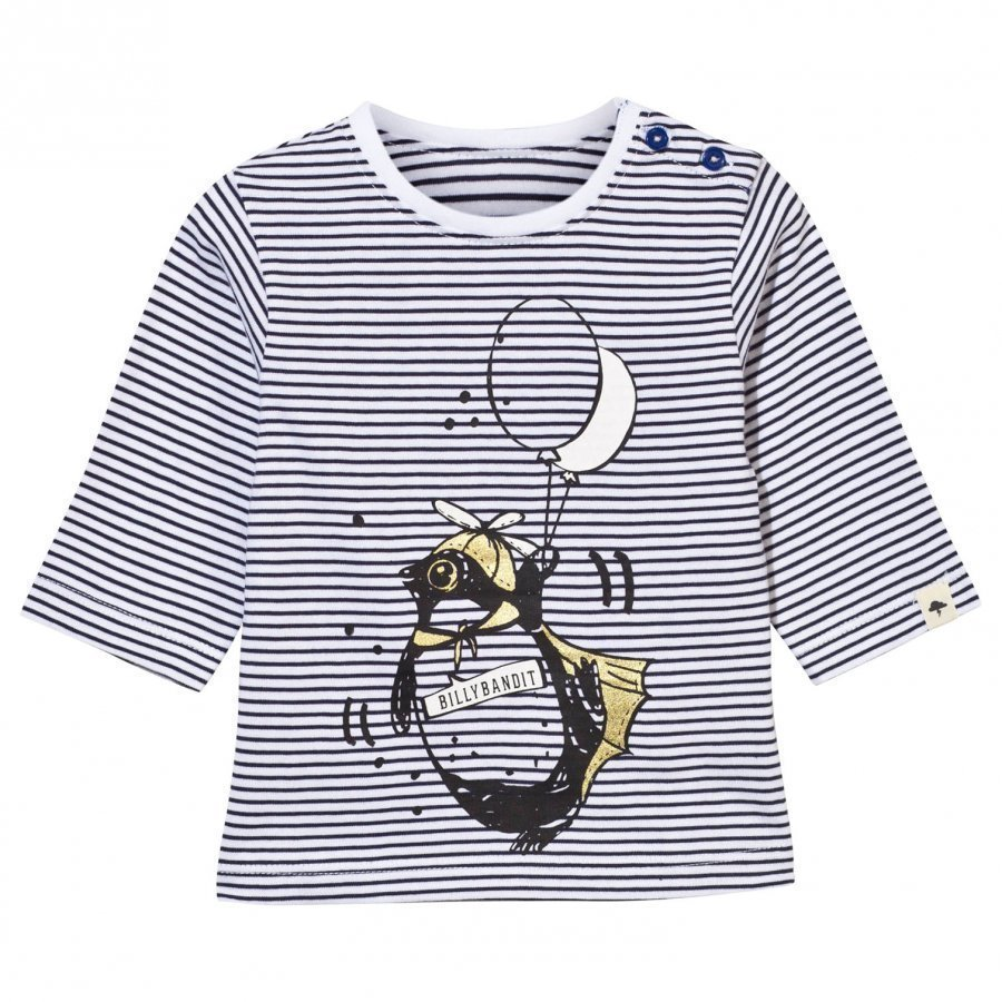 Billybandit T-Shirt White/Blue T-Paita