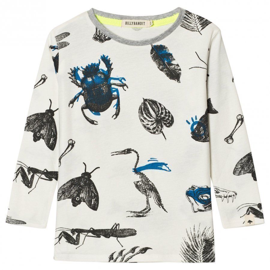 Billybandit White Allover Bug Print Tee T-Paita