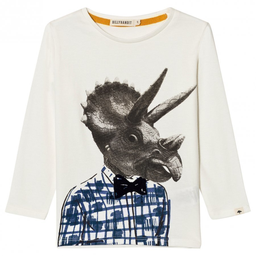Billybandit White Dinosaur Print Tee T-Paita