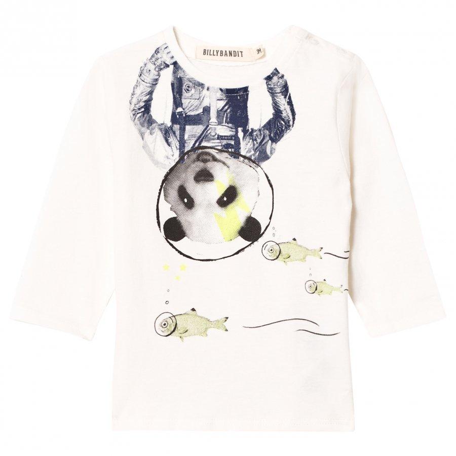 Billybandit White Space Panda Print Tee T-Paita