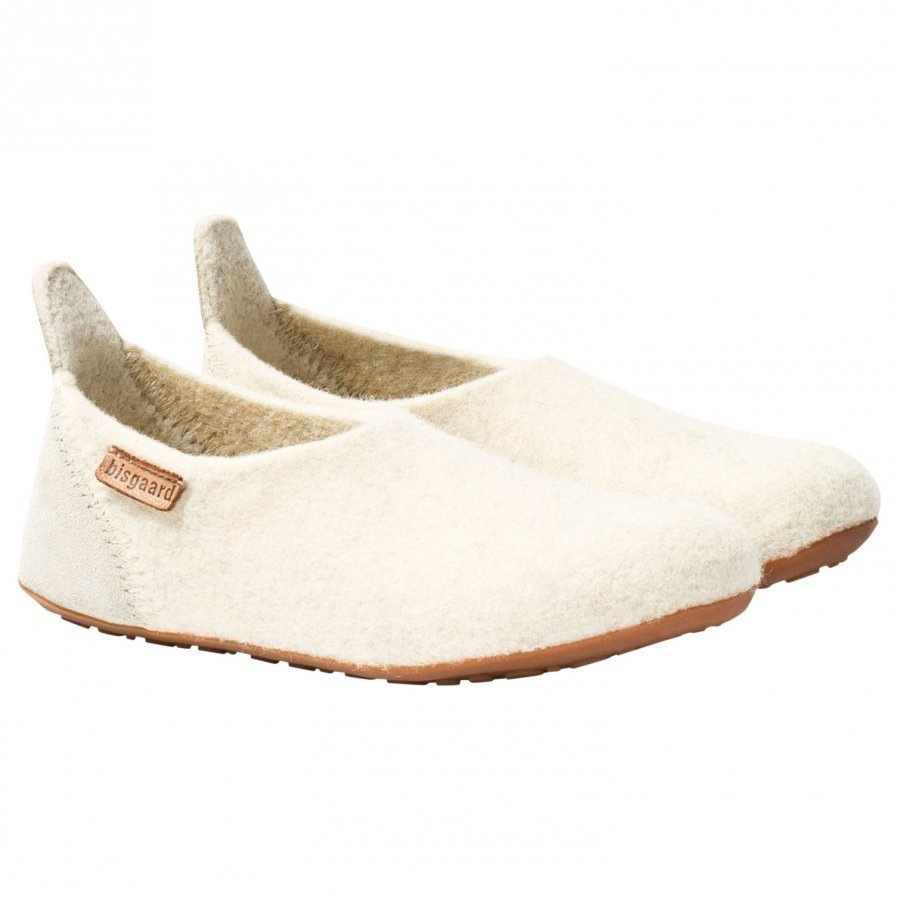 Bisgaard Basic Wool Home Shoe Cream Sisätossut