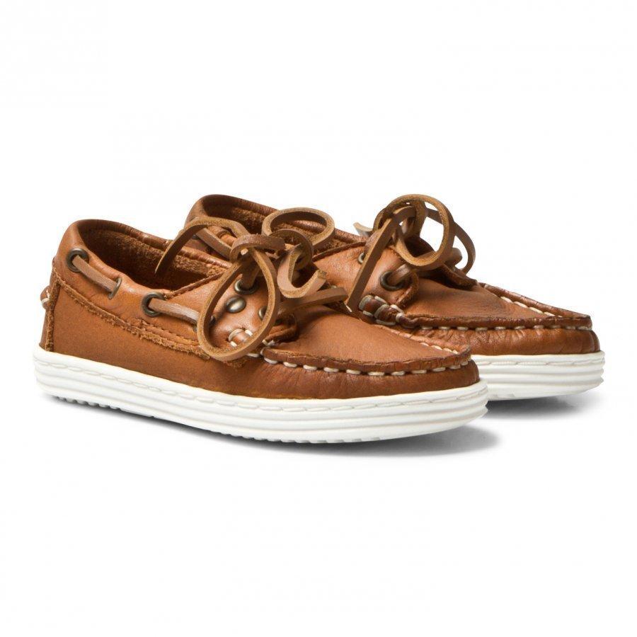 Bisgaard Boat Shoe Cognac Brogue Kengät