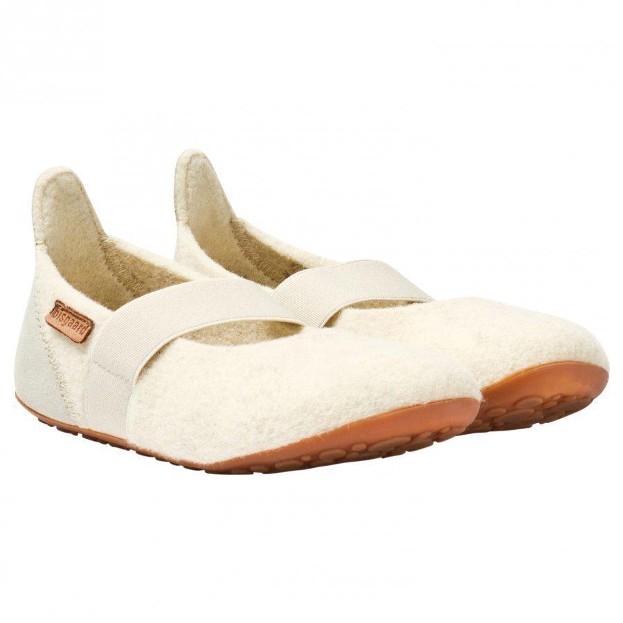 Bisgaard Home Wool Ballet Shoe Cream Ballerinat