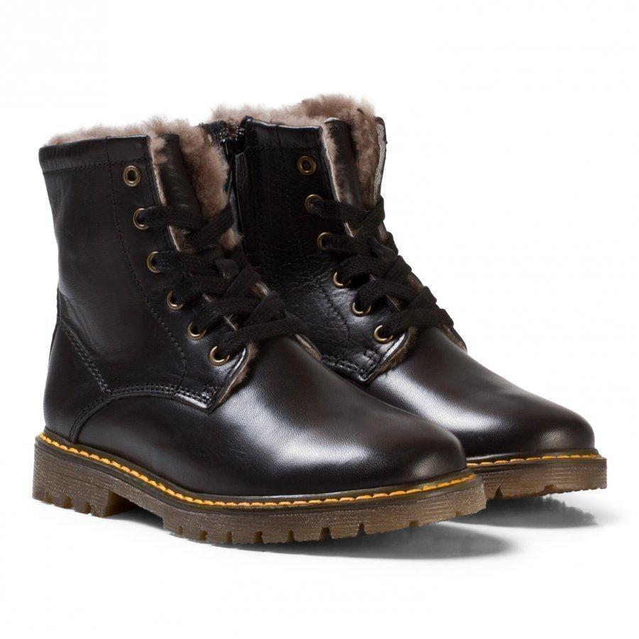 Bisgaard Lambskin Boots Black Nilkkurit