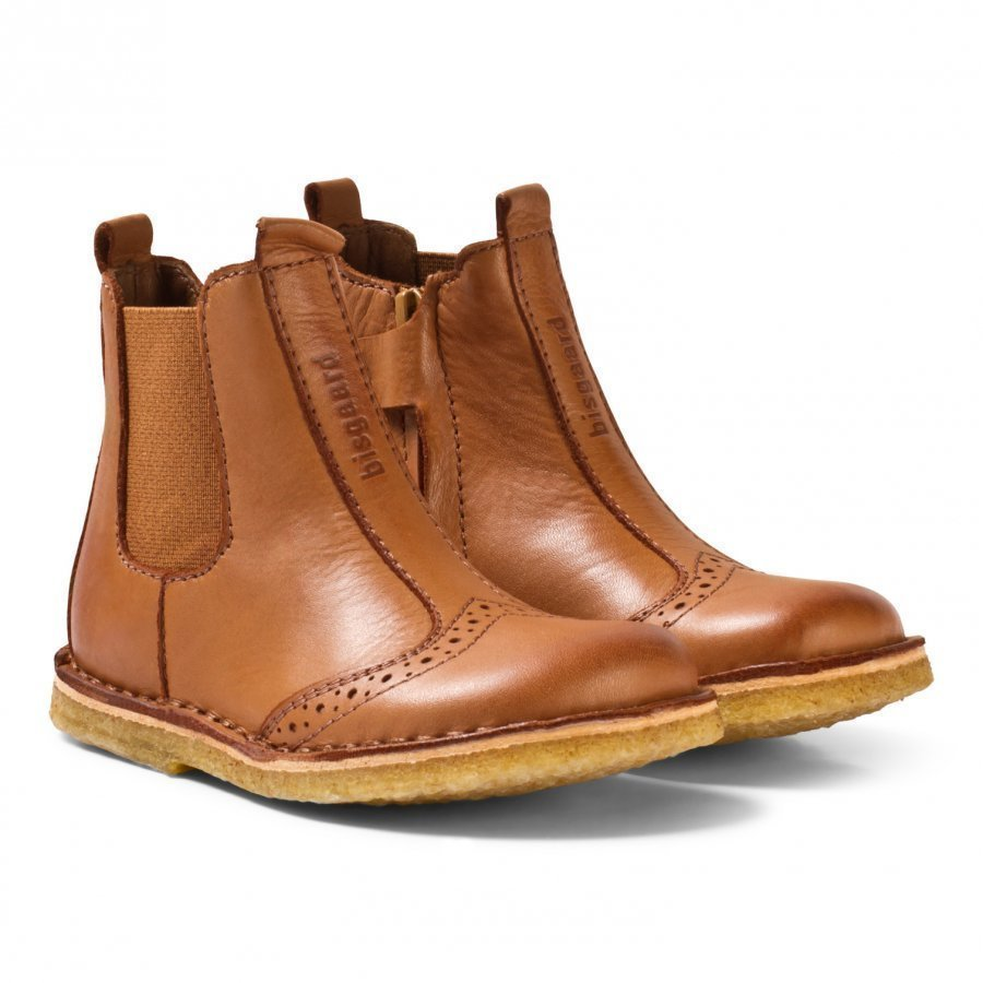 Bisgaard Leather Boots Cognac Nilkkurit