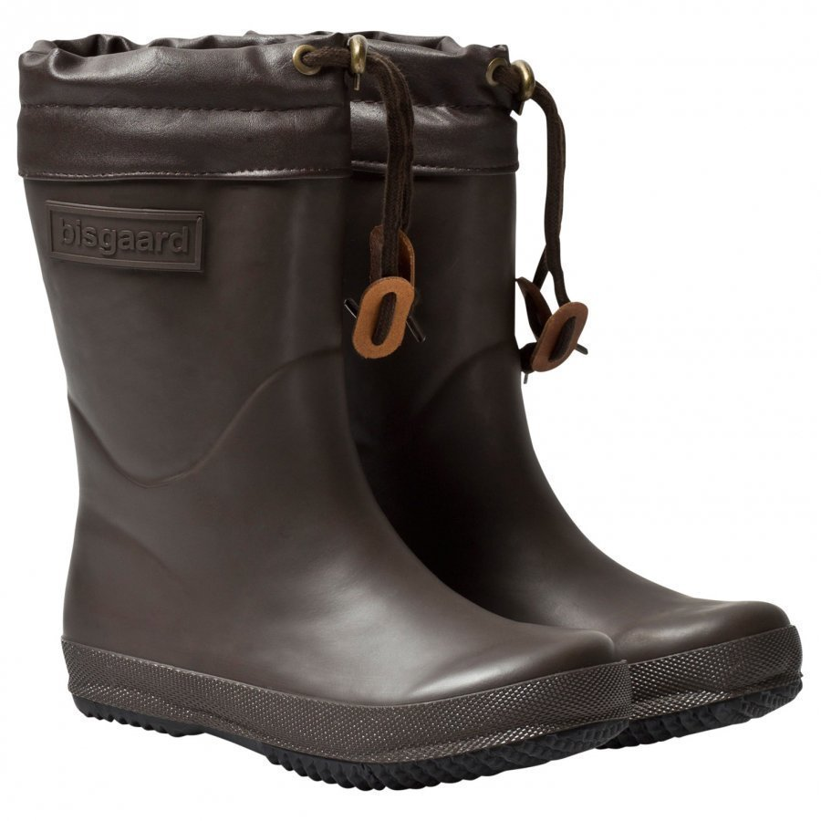 Bisgaard Rubber Boot Wool Brown Kumisaappaat