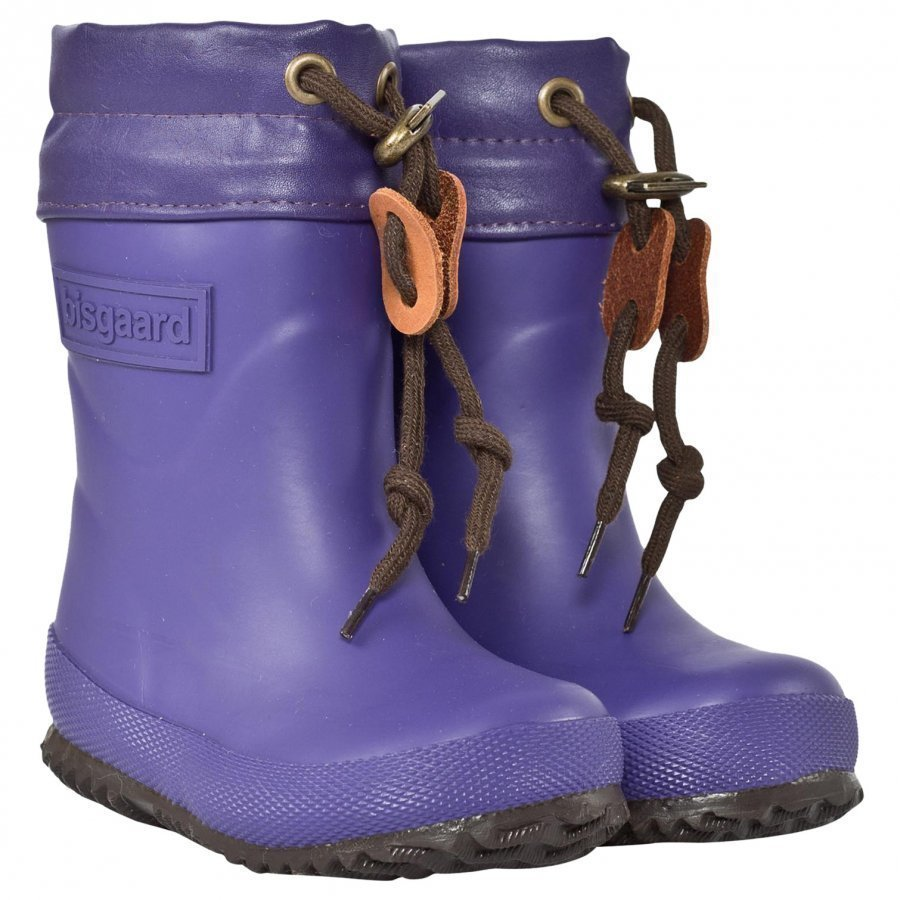 Bisgaard Rubber Boot Wool Purple Kumisaappaat