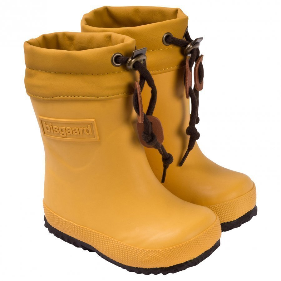 Bisgaard Rubber Boot Wool Yellow Kumisaappaat
