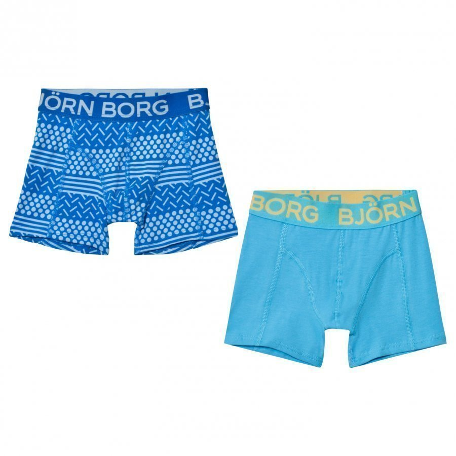 Bjorn Borg 2 Pack Print Blue Trunks Bokserit