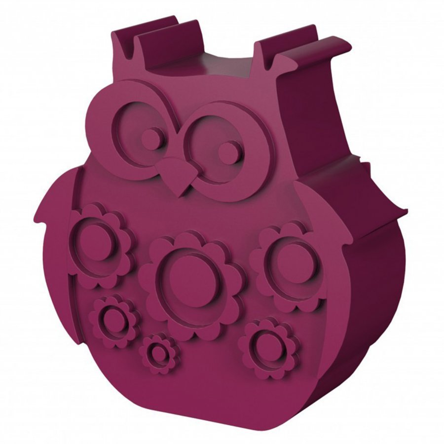 Blafre Lunch Box With 2 Compartments Owl Shaped Plum Red Lounasrasia