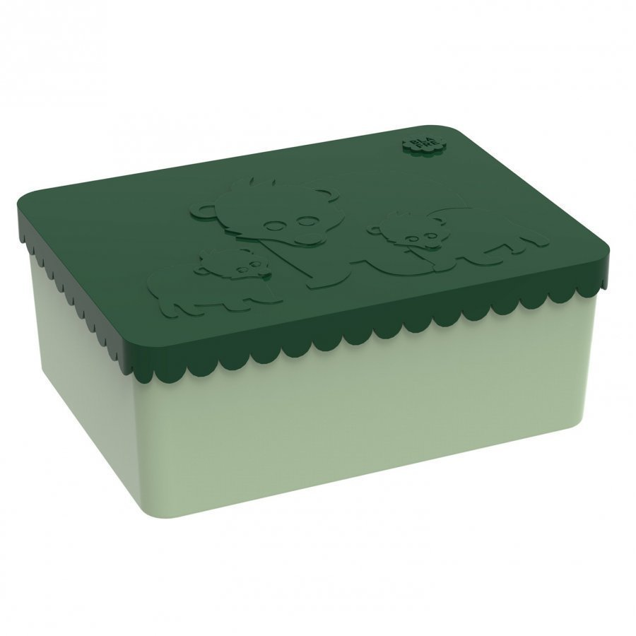 Blafre Lunchbox With 3 Compartments Bear Dark Green Lounasrasia