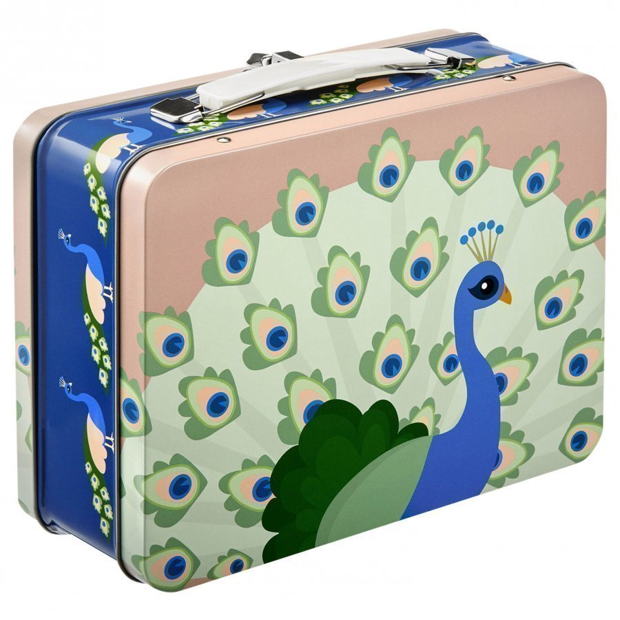 Blafre Peacock Tin Lunch Box Lounasrasia