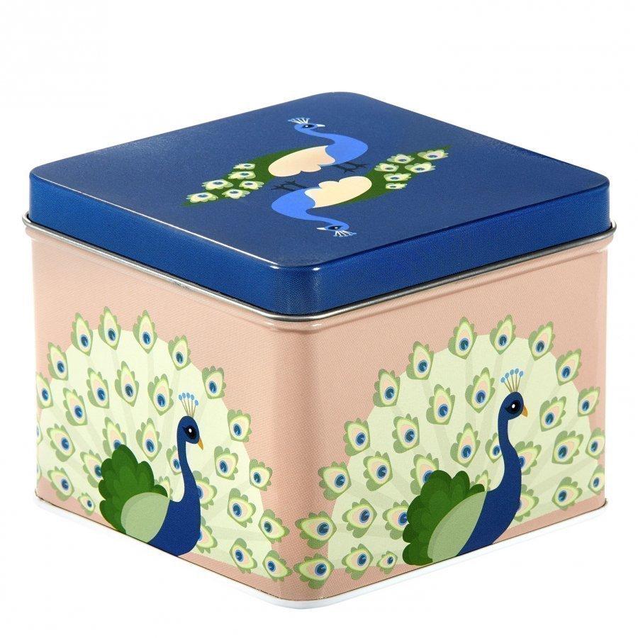 Blafre Small Tin Box Peackock Lounasrasia