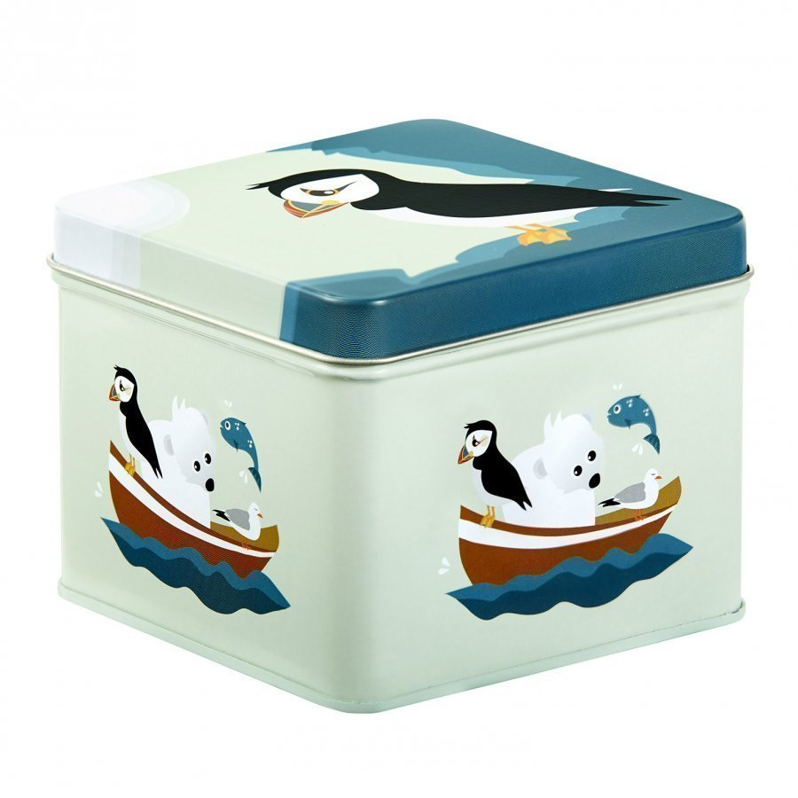 Blafre Small Tin Box Puffin Lounasrasia