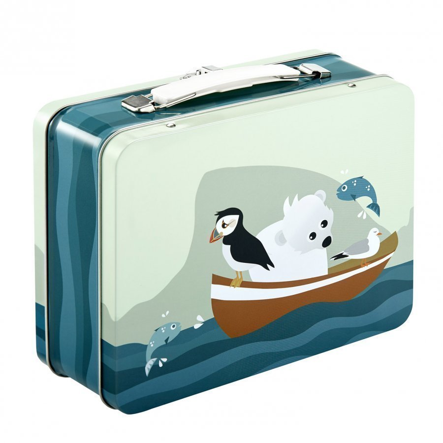 Blafre Tin Suitcase Puffin Lounasrasia