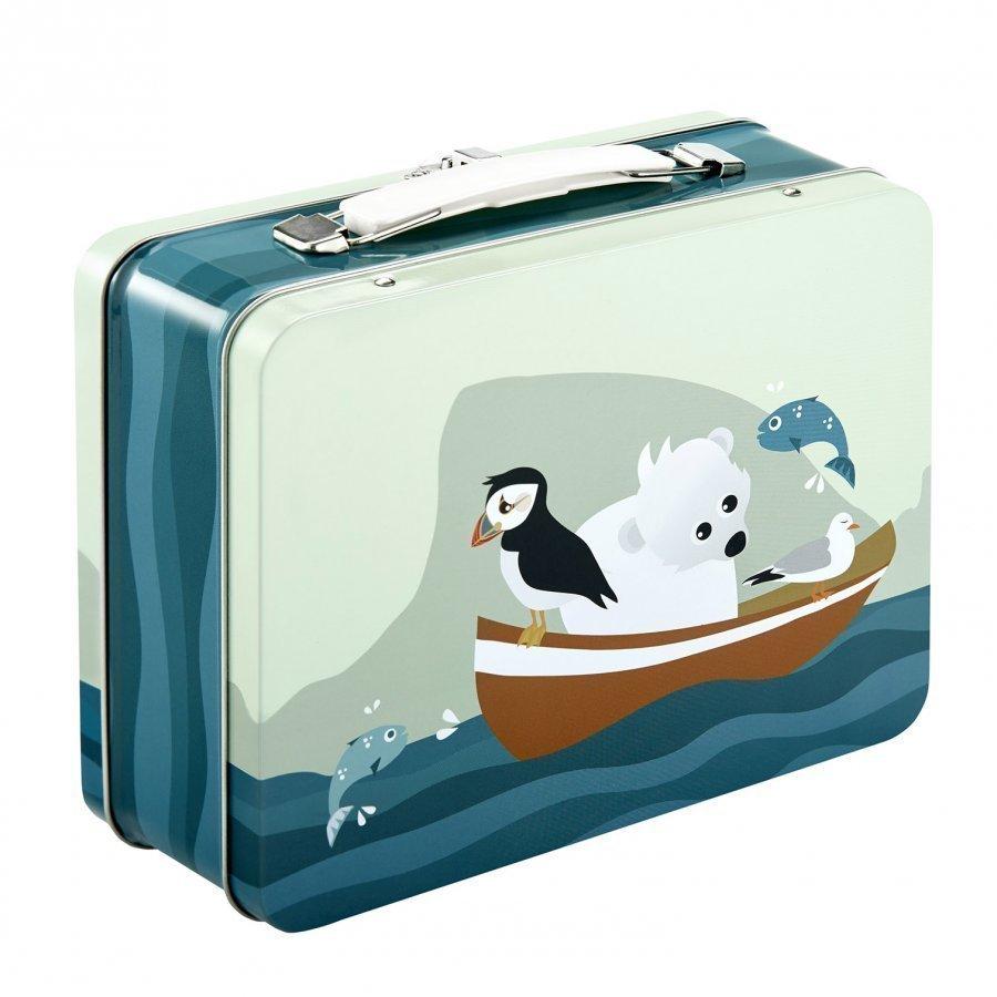 Blafre Tin Suitcase Puffin Lounasrasia
