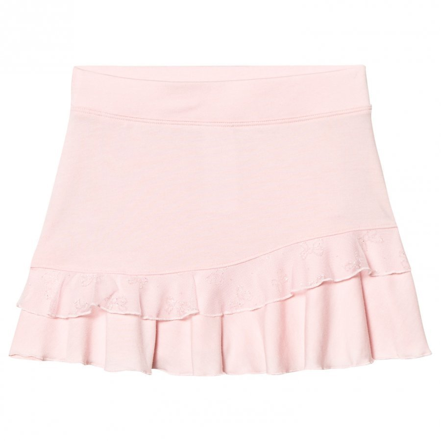 Bloch Pink Glitter Ruffle Guari Skirt Hame
