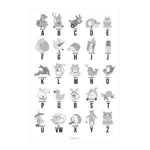 Bloomingville Alphabet Juliste Harmaa 50x70 Cm
