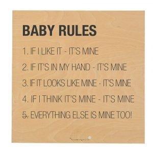 Bloomingville Baby Rules Sitaatti Kyltti