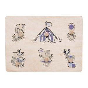 Bloomingville Cirkus Palapelit Luonnonväri / Violetti