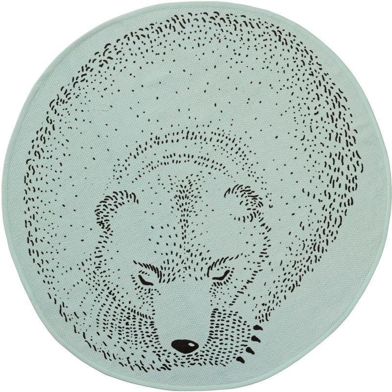 Bloomingville Puuvillamatto Nukkuva karhu 80 cm Mintunvihreä