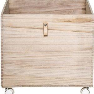Bloomingville Pyörällinen laatikko Puuta Luonnonvärinen