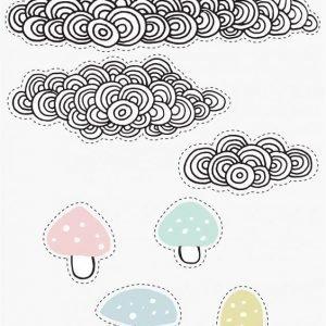 Bloomingville Seinätarrat Pilvet/sienet
