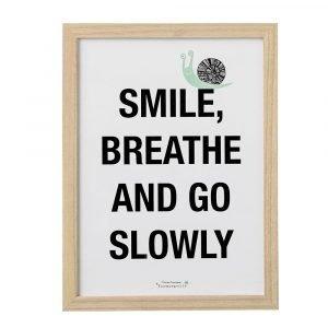 Bloomingville Smile Taulu Kehyksellä Puu