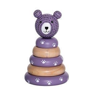 Bloomingville Stacking Toy Lelu Luonnonväri / Violetti
