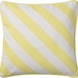 Bloomingville Tyyny 45x45 cm Keltainen/valkoinen