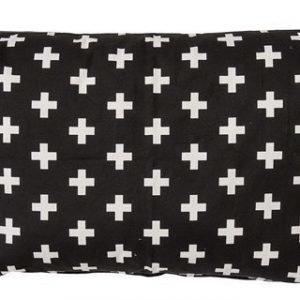 Bloomingville Tyyny 90 x 60 cm Musta/valkoinen